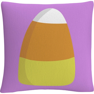 Trademark Fine Art Modern Candy Corn Halloween Decorative Throw Pillow