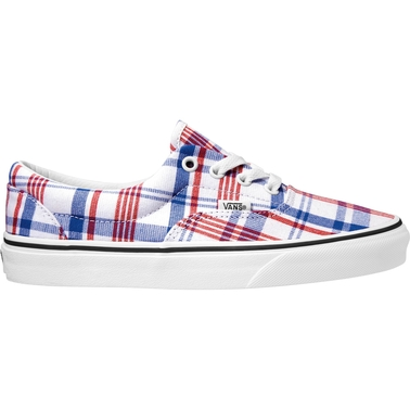 Vans Women's Era Plaid White Shoes