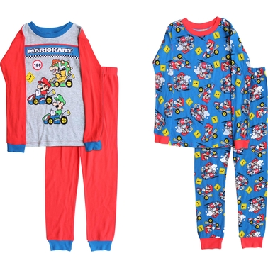 Nintendo Little Boys Super Mario Mario Speed 4 pc. Pajama Set