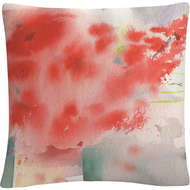 Trademark Fine Art Seasons Watercolor Still Life Painting Decorative Throw Pillow