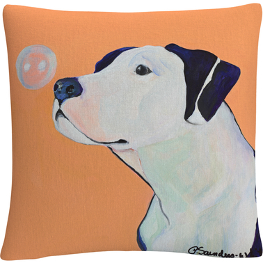 'Fascination' By Pat Saunders White Decorative Throw Pillow