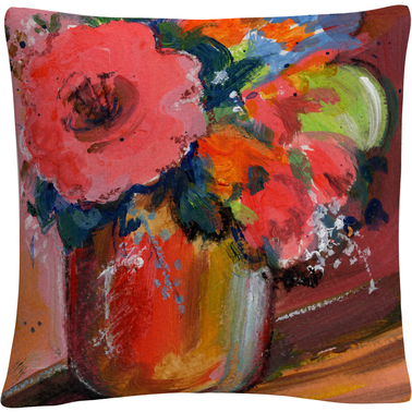 'Floral' Bold Still Life Painting' By Sheila Golden Decorative Throw Pillow