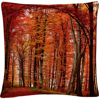 Trademark Fine Art The Red Way Decorative Throw Pillow