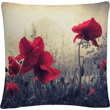 Trademark Fine Art Red For Love Decorative Throw Pillow