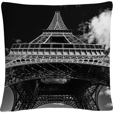 Trademark Fine Art Paris Eiffel Tower 1 Decorative Throw Pillow