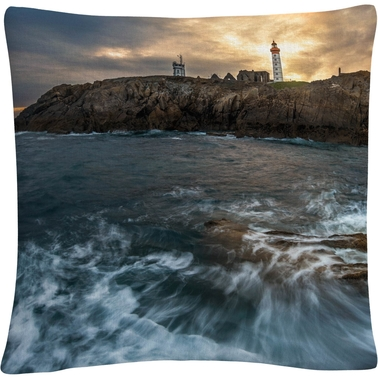 Trademark Fine Art The Lighthouse Decorative Throw Pillow