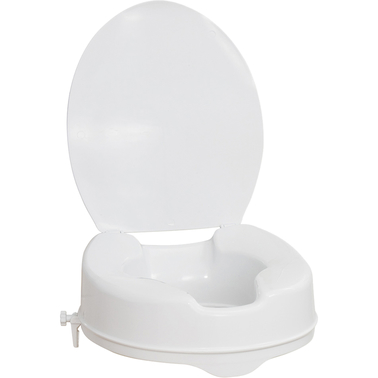 AquaSense Raised Toilet Seat with Lid, 2 in.