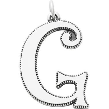 James Avery Vintage Alphabet G Pendant Silver Charms