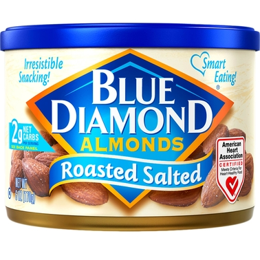 Blue Diamond Almonds Roasted Salted 6 oz. Can