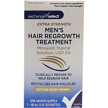 Exchange Select Men's Minoxidil Extra Strength Hair Regrowth Treatment
