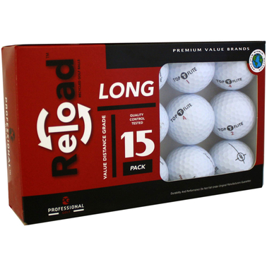 Reload Recycled Golf Balls 15 pk.