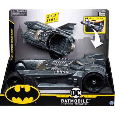 Spin Master 2 in 1 Batman 4 in. Batmobile and Batboat Toy