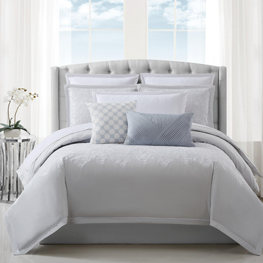 Charisma Celini Woven Cotton Embroidered Queen Duvet Cover Set