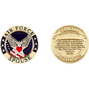 Challenge Coin U.S. Air Force Spouse Coin