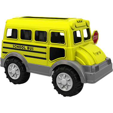 American Plastic Toys Gigantic School Bus Toy