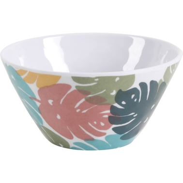 Gibson Home Tropical Sway 6 in. Decorative Hammered Melamine Bowl