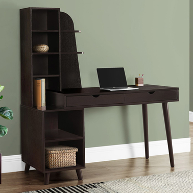 Chelsea Home 55 in. Computer Desk with Bookcase