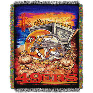 Northwest NFL San Francisco 49ers Home Field Advantage Tapestry Throw
