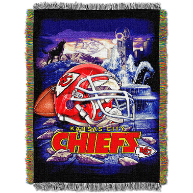 Northwest NFL Kansas City Chiefs Home Field Advantage Tapestry Throw