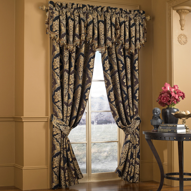 Five Queens Court Reilly 84 x 50 in. Window Curtain Panel 2 pk.