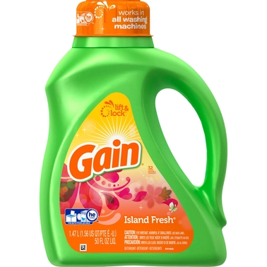 Gain Island Fresh Scent HE Turbo Liquid Laundry Detergent 50 Oz. 32 Loads