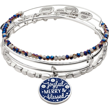 Alex and Ani Joyful, Merry and Blessed Bracelet 3 pc. Set
