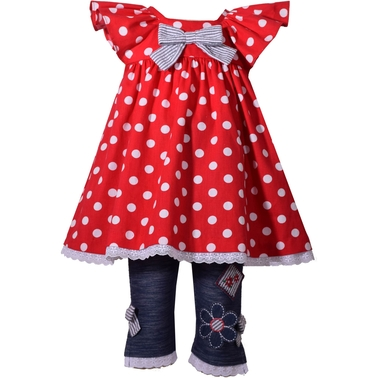 Bonnie Jean Infant Girls Dot Flutter 2 pc. Set
