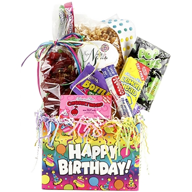 Naper Nuts & Sweets Birthday Surprise Gift Basket
