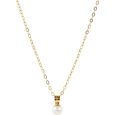 Karat Kids 14K Yellow Gold 15 In. 4mm Pearl Necklace