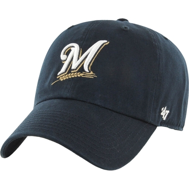 47 Brand MLB Milwaukee Brewers Clean Up Baseball Cap