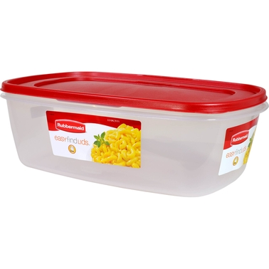 Rubbermaid 2.5 gal. Rectangle Easy Find Lids Container