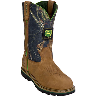John Deere Men's 11 in. Camo Pull On Boots