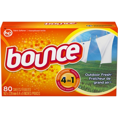 Bounce Outdoor Fresh 4-In-1 Dryer Fabric Softener Sheets 80 Pk.