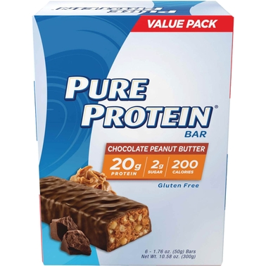 Pure Protein 50g Chocolate Peanut Butter Bar 6 Pk.
