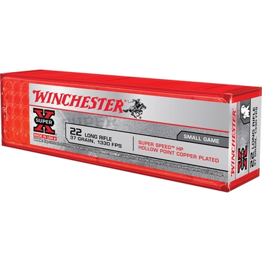 Winchester Super Speed .22 LR 37 Gr. Plated Hollow Point, 100 Rounds