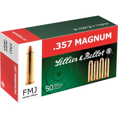 Sellier & Bellot Ammunition .357 Mag 158 Gr. FMJ, 50 Rounds