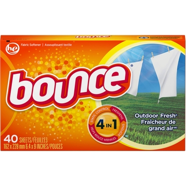 Bounce Outdoor Fresh 4-In-1 Dryer Fabric Softener Sheets 40 Pk.