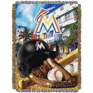 Northwest MLB Miami Marlins Home Field Advantage Tapestry Throw
