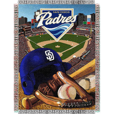 Northwest MLB San Diego Padres Home Field Advantage Tapestry Throw