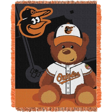 Northwest MLB Baltimore Orioles Triple Woven Jacquard Baby Throw