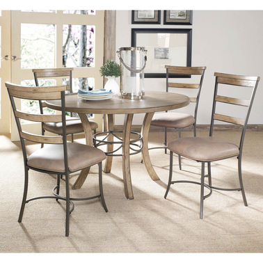 Hillsdale Charleston 5 pc. Round Dining Set with Ladder Back Chairs