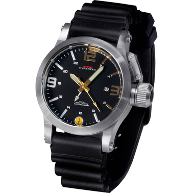 MTM Special Ops Mens Hypertec Silver Watch with Black/Gold Dial