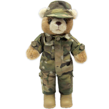 Bear Forces Of America 11 In Female Plush Bear In Army