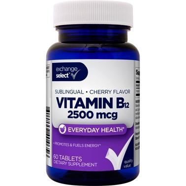 Exchange Select Sublingual B12 2500 Mcg, 60 Ct  | Vitamins