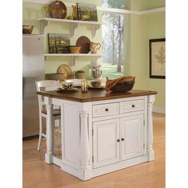 home styles monarch kitchen island and two stools kitchen storage