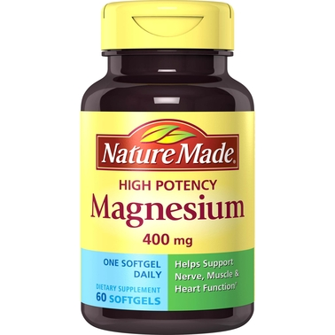 Nature Made High Potency Magnesium 400 mg Liquid Softgels 60 Ct.