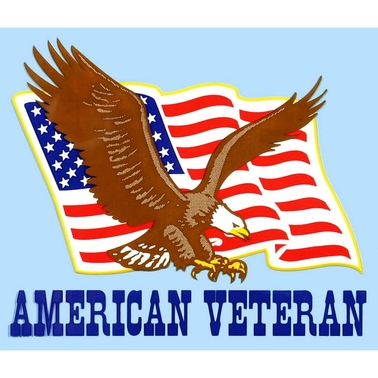 Mitchell Proffitt American Veteran Eagle and Flag Decal
