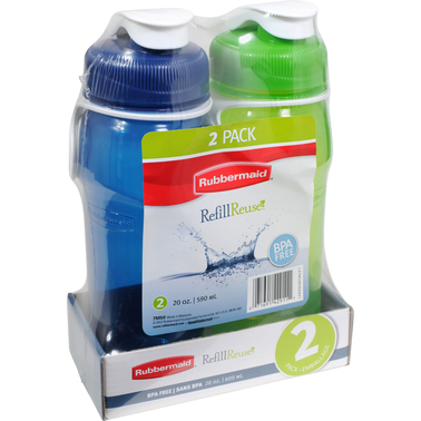 Rubbermaid 20 oz. Chug Bottle 2 pk.
