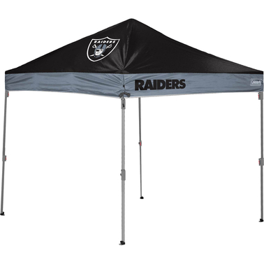 Jarden Sports Licensing NFL Las Vegas Raiders 10 x 10 ft. Straight Leg Canopy