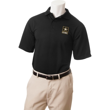 Duke Performance Polo with Embroidered Army Insignia